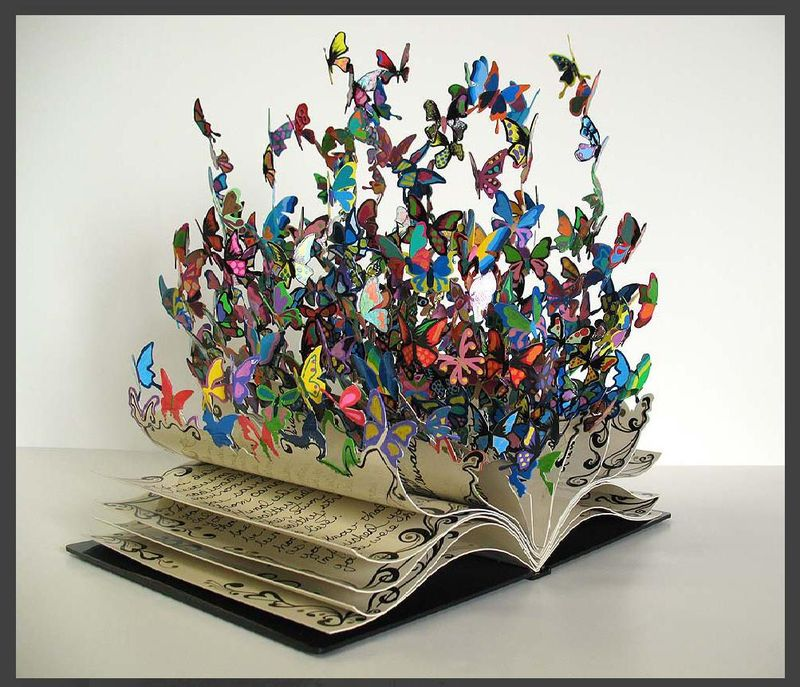 Butterfly-Book-Sculpture