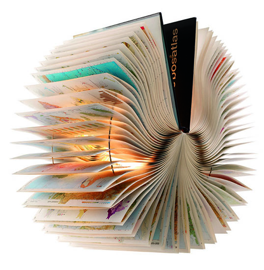 Book Sculpture Lamp by Michael Bom