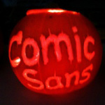 Comic-sans-pumpkin