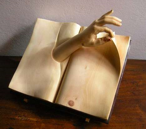 Nino-orlandi book sculpture