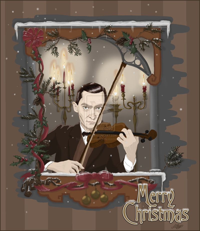 Sherlock_holmes___violinist_on_christmas_day_by_mrshorowietzky-d5o51w9
