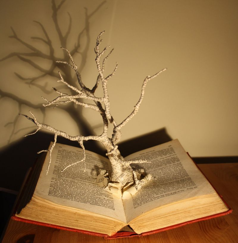 Altered book sculpture by Emma Taylor