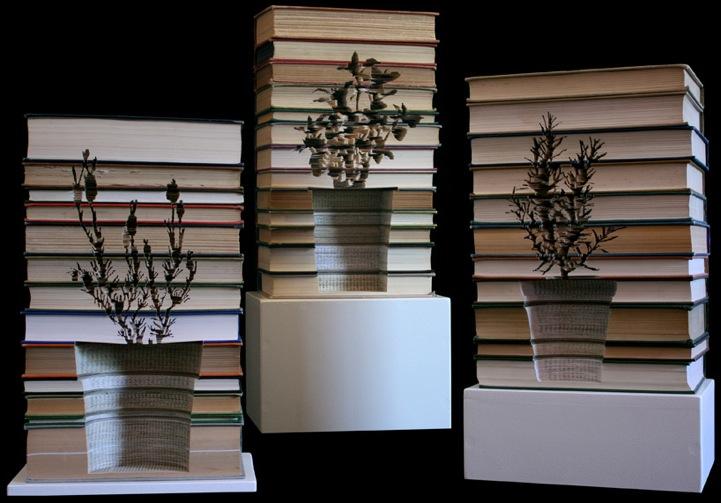 Book sculpture by Melbourne-based sculptor Kylie Stillman
