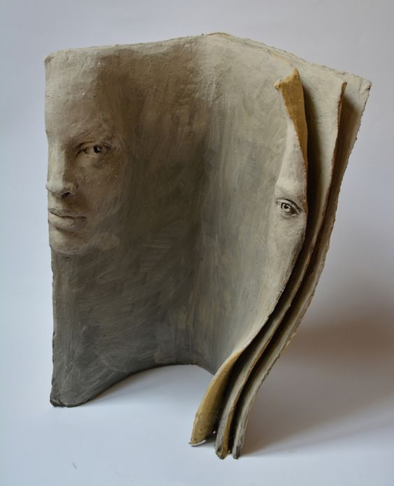 Paola Grizi's terracotta book sculptures