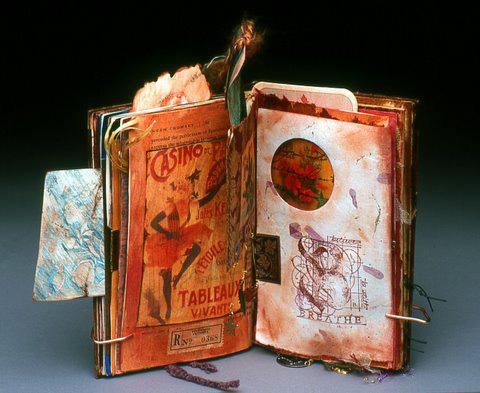 Mixed media book sculpture from Carol Owen