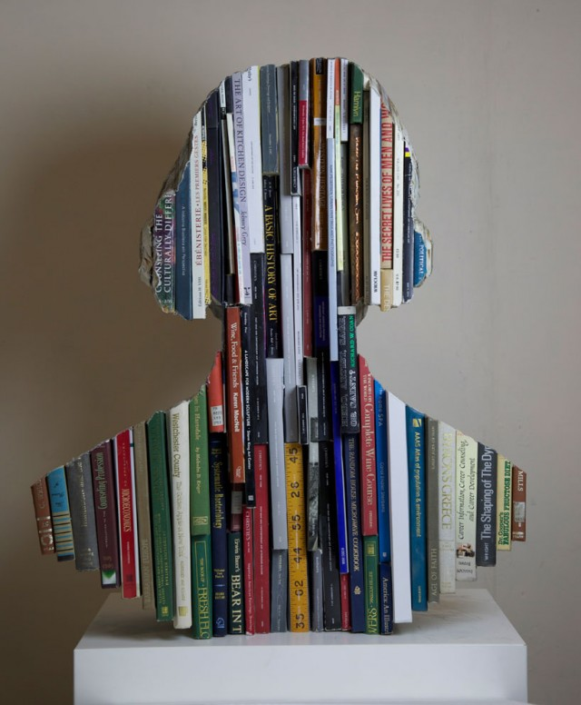 Recycled Carved Book Sculptures By Long-Bin Chen