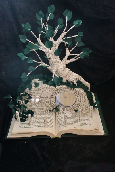 The Hobbit House book sculpture by Jodi Harvey-Brown