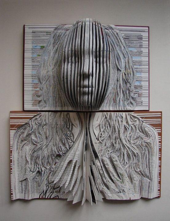 Book Sculpture Rapunzel and Her Prince by SurLaPage