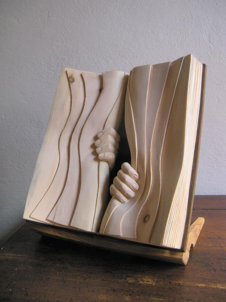 Book Sculpture by Nino Orlandi