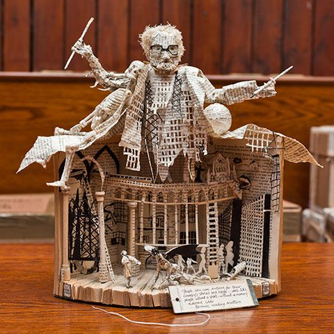 Scotland Mystery Book Sculpture