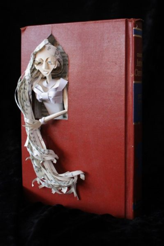 Rapunzel Book Sculpture by Jodi Harvey-Brown