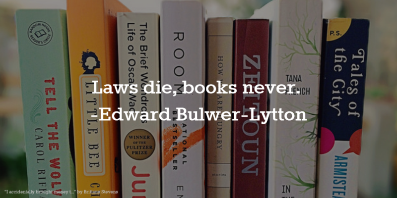 Laws Die Books Never