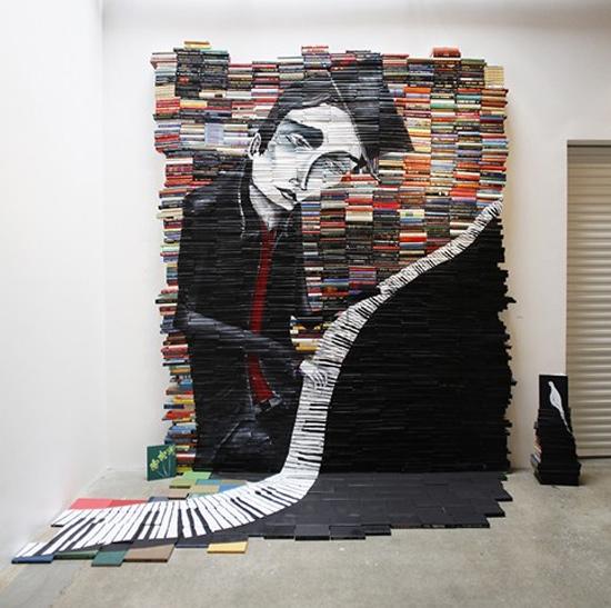 Book Sculpture by Mike Stilkey