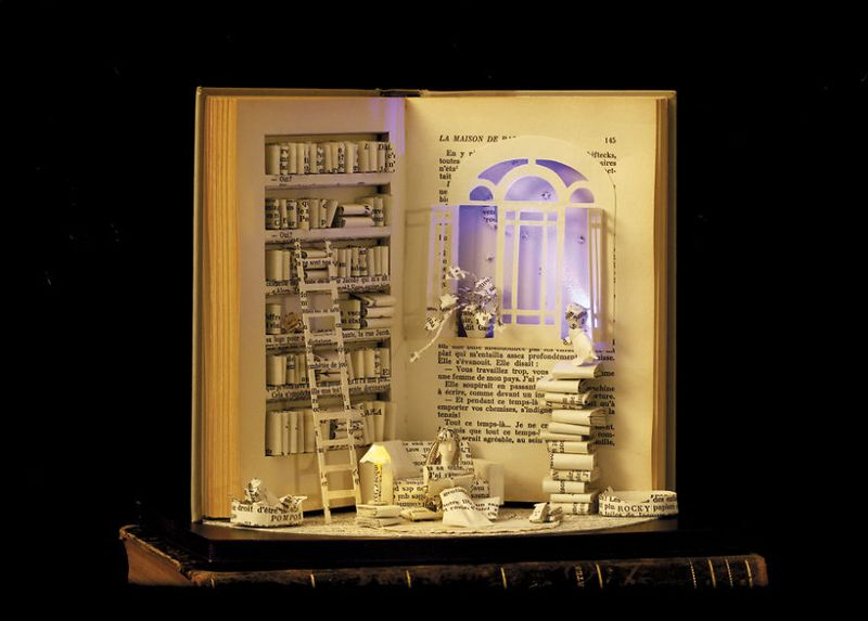 The Paper House Handmade Book Sculpture By Karine Diot