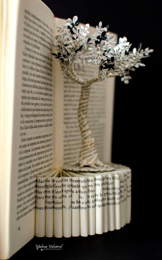Book Paper Art Sculpture Tree of Life by MalenaValcarcel