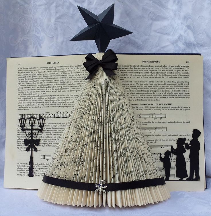 Christmas Book Art