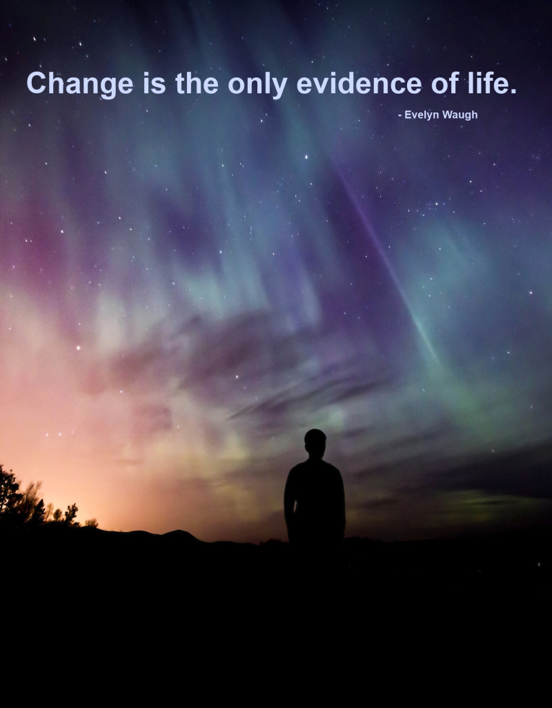 Change is the only evidence of life