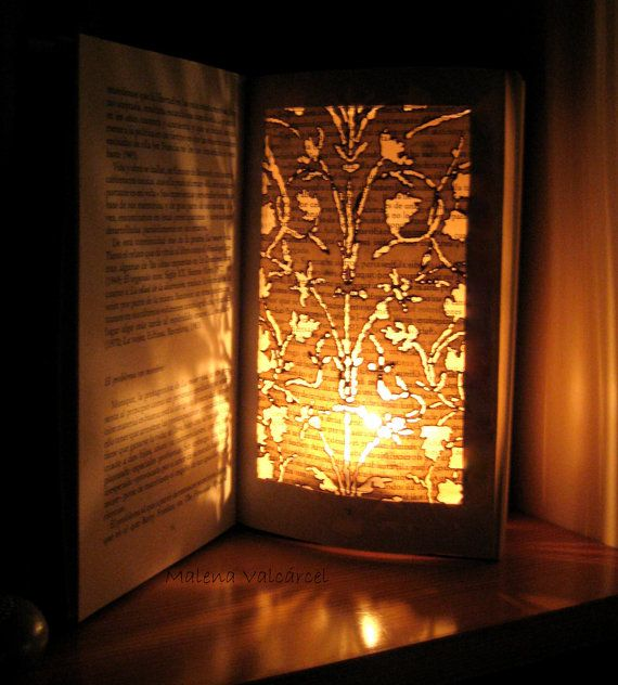 Book Paper Art Sculpture Altered Book Burn me by MalenaValcarcel