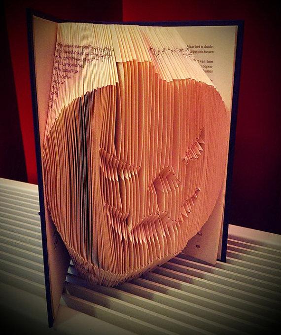 Pumpkin Book Art by FoldedBookGifts