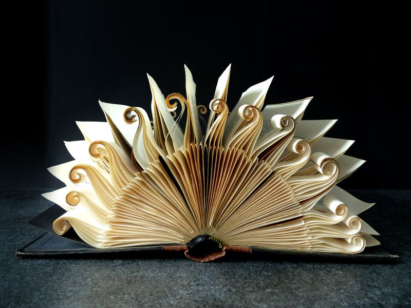 Book Art Sculpture Sun by abadova