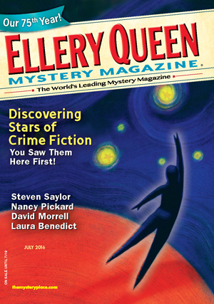 The July Issue Of Ellery Queens Mystery Magazine Continues Publications 75th Anniversary Year With A Look At Its Ongoing Department First Stories