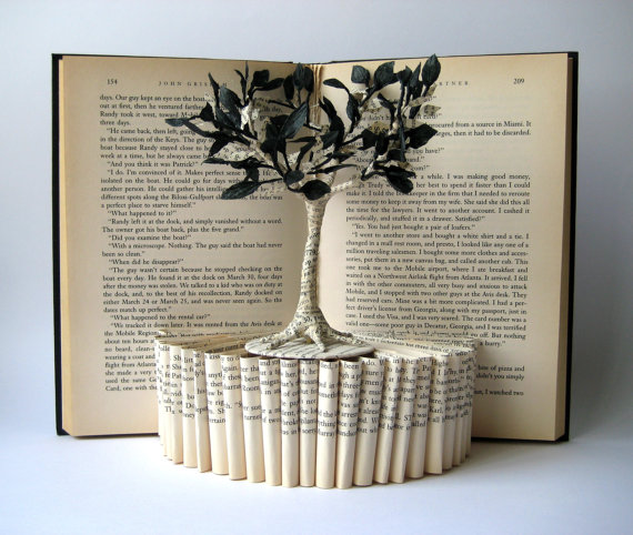 Tree Book Sculpture by MalenaValcarcel