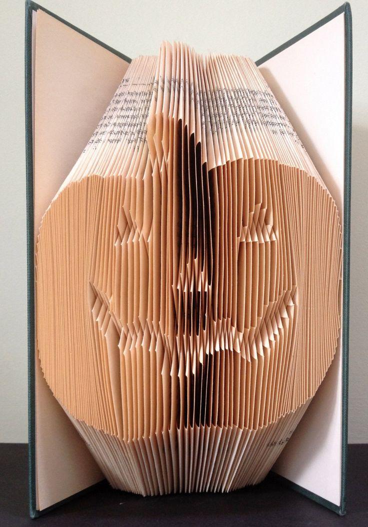 Pumpkin book sculpture
