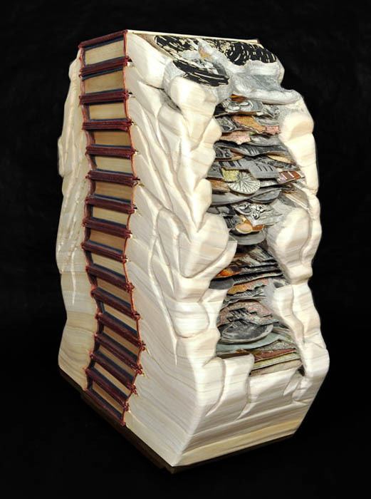 Book art carving sculpture brian dettmer