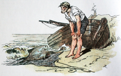 The Fisherman and His Wife illustration by Alexander Zick