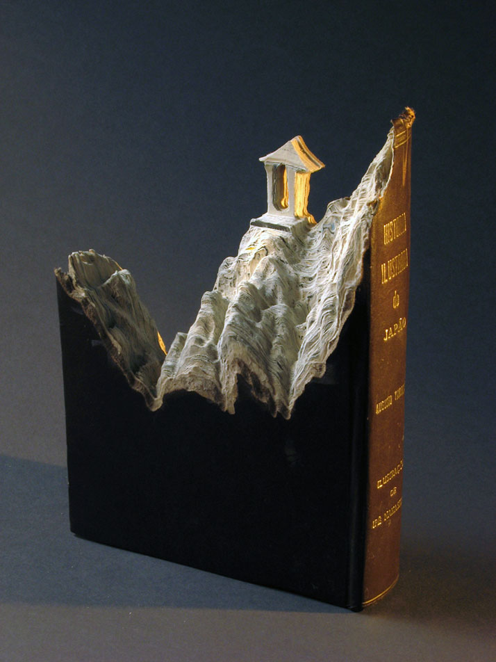 Book Sculpture by Guy Laramee