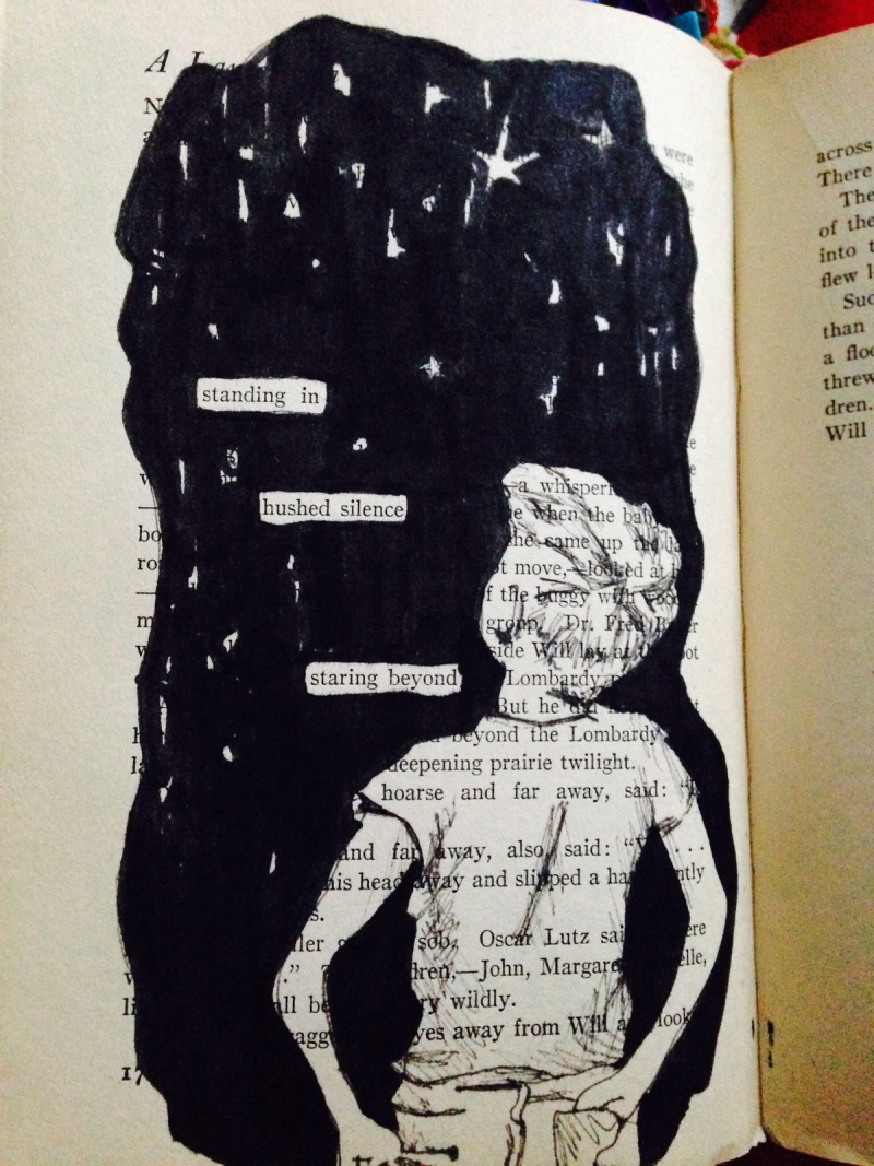 Blackout Poetry Book Art