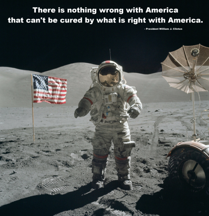There is nothing wrong with American that can't be cured by what is right with America