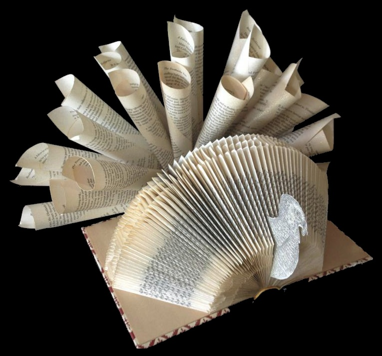 Turkey Book Art by Stephanie Pounds