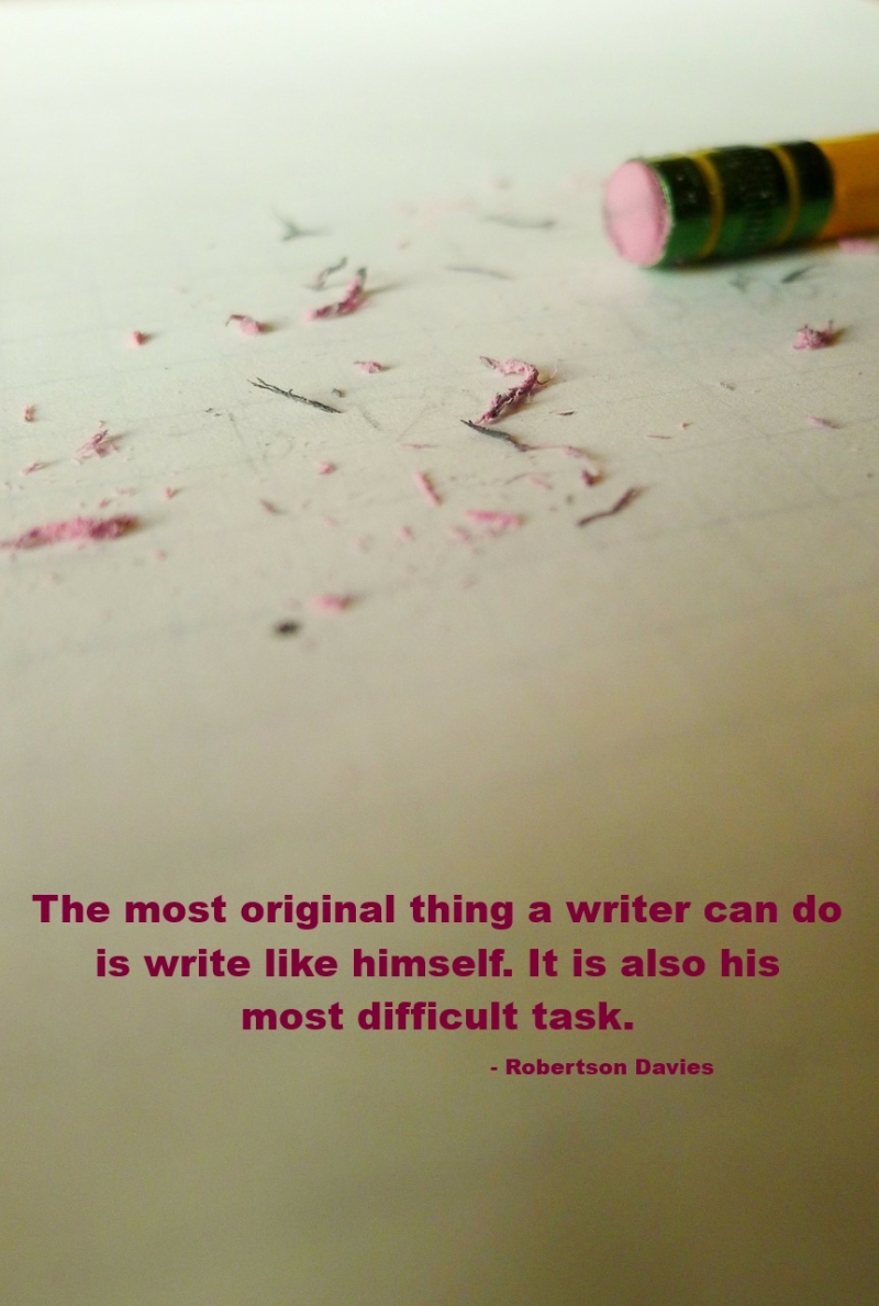 Most difficult thing a writer can do