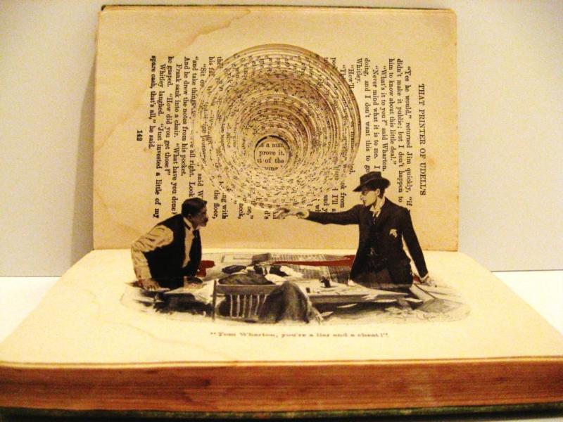 Bookstack Sculpture by Kylie Stillman
