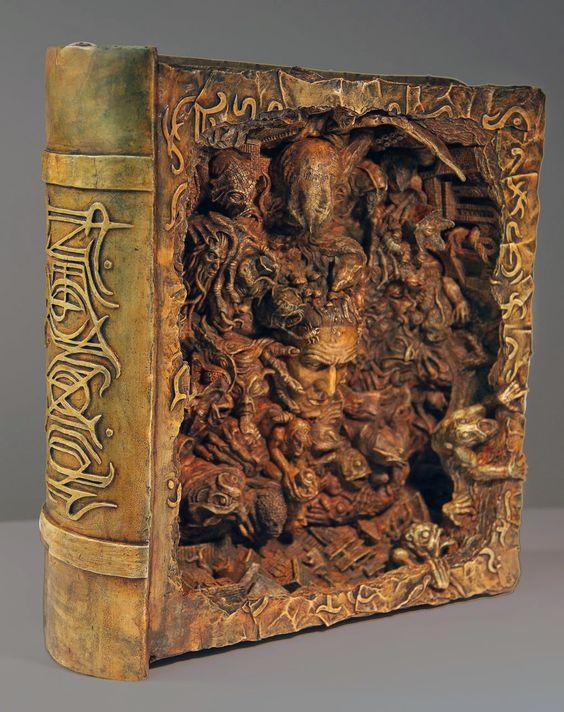 Joel Harlow book art Necronomicon