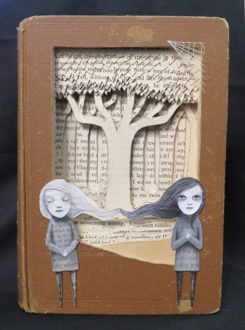 In A Dream I Dreamt I Was Ligeia By Valerie Savarie Book Sculpture