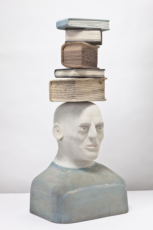 RobertAdams_Thinker Book Sculpture