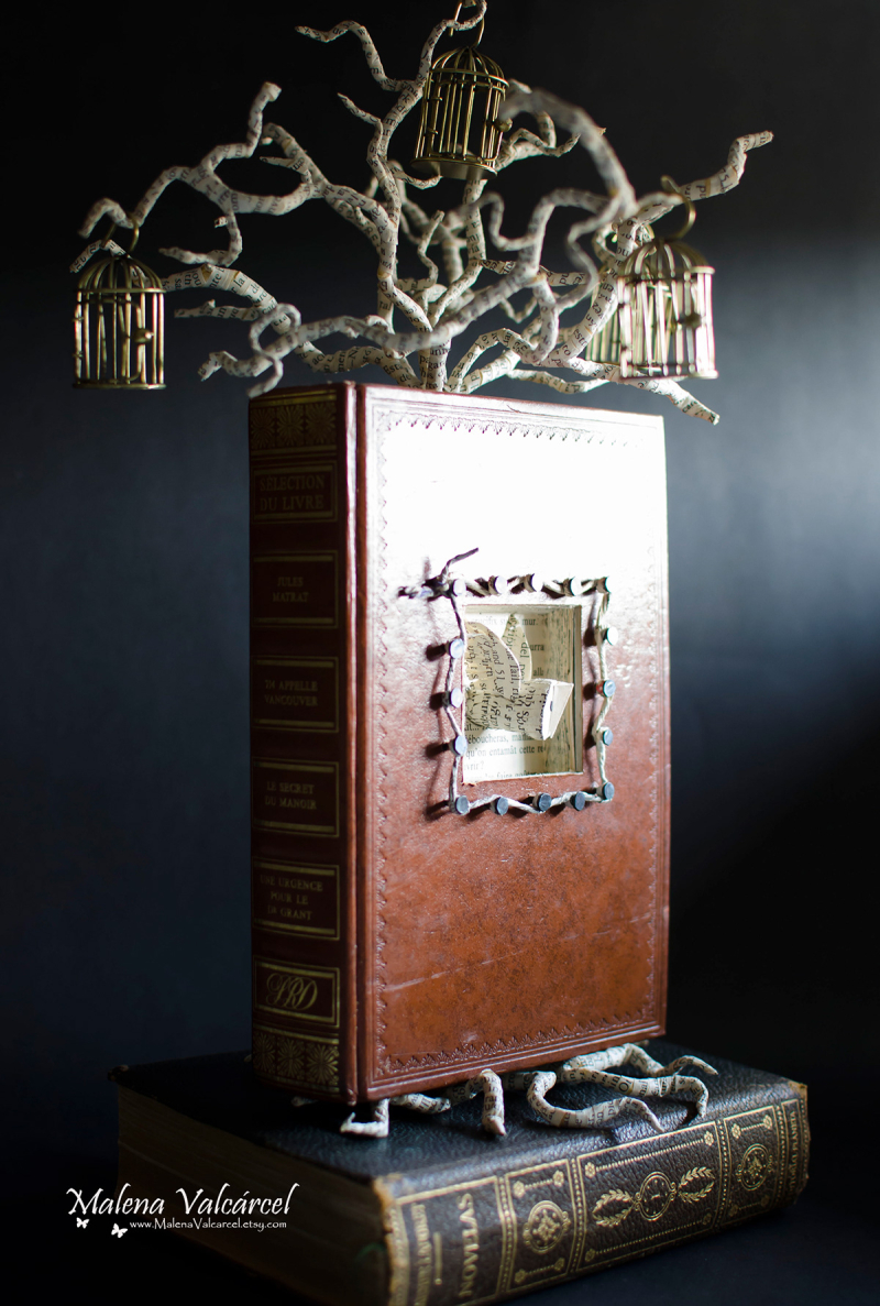 Uncaged Book Sculpture by Malena Valcarcel