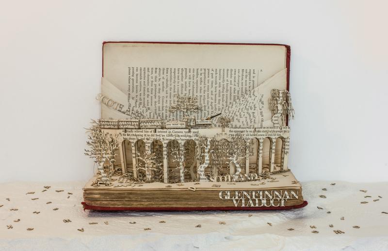 Glenfinnan Viaduct Book Sculpture Visit Scotland