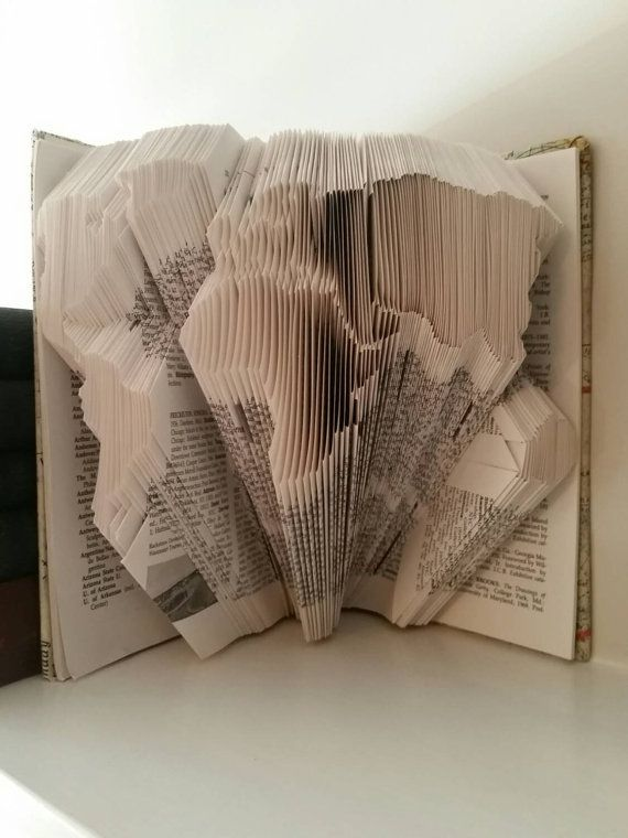 World Globe Map Folded Book Art Sculpture Ready by ExcuseMeDesigns