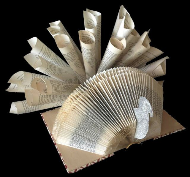 Thanksgiving Book Art by Reading With Scissors on Etsy