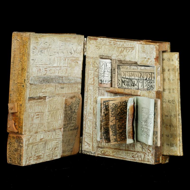 Map ed Veveiis artist book by Genevieve Seille