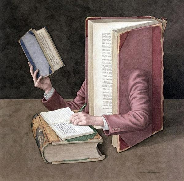 Book Art by Jonathan Wolstenholme