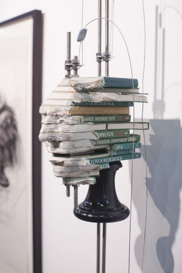 Book Sculpture by Wim Botha