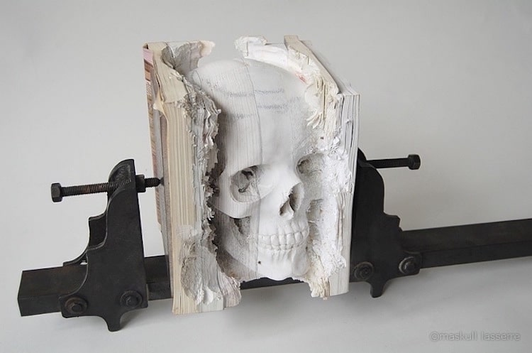 4-book-art-maskull-lasserre-skull-carved-books
