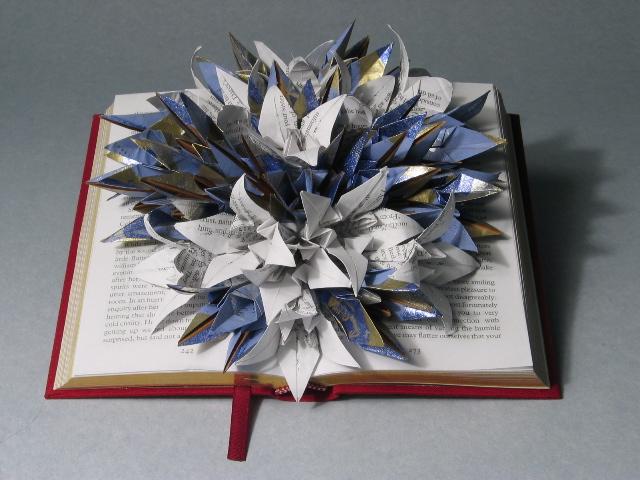 Book sculpture by Shamus