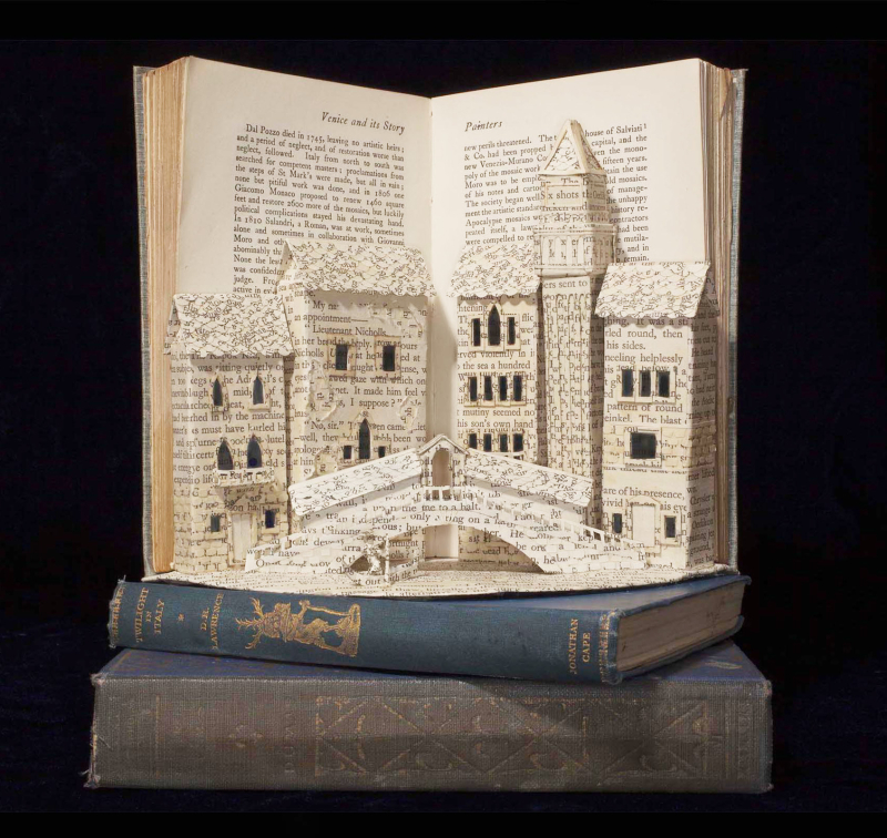Book sculpture by Emma Taylor