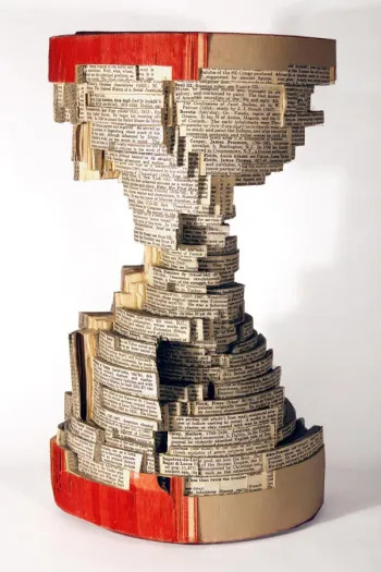 Book sculpture by Brian Dettmer